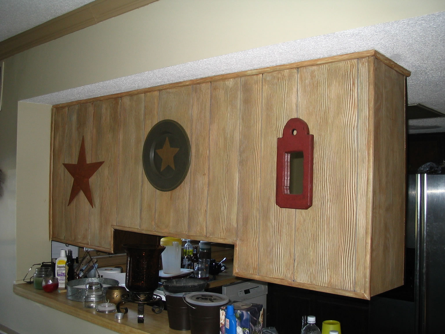 Faux Painting Kitchen Wood Cabinets